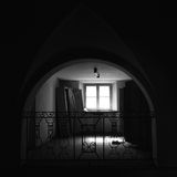 Insane asylum. The interior of an ex insane asylum in italy royalty free stock photography