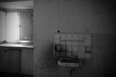 Insane asylum. The interior of an ex insane asylum in italy royalty free stock photo