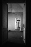Insane asylum. The interior of an ex insane asylum in italy stock image