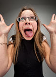 Insane business woman. Portrait of a insane attractive business woman Stock Images