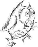Insane Crazy Owl Vector Royalty Free Stock Images