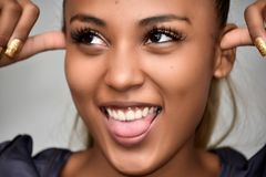 Insane Diverse Teenage Girl royalty free stock photos