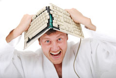 Insane judoist Royalty Free Stock Photos
