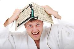 Insane judoist royalty free stock photos