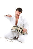 Insane judoist Royalty Free Stock Photo