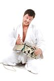 Insane judoist Royalty Free Stock Photo