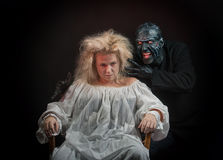 Insane woman and her inner monster Royalty Free Stock Photo