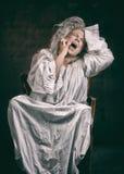 Insane woman Royalty Free Stock Photo
