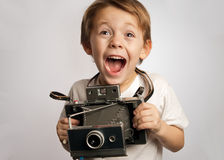Insant camera kid Stock Images