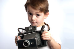 Insant camera kid Royalty Free Stock Images