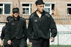 Insassen im männlichen Gefängnis Lizenzfreie Stockbilder