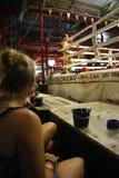Inscatolamento tailandese di Muay Fotografie Stock