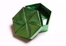 Inscatoli per un regalo il verde Fotografia Stock