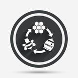 Inscenizowanie miód i beeswax szyldowa ikona ilustracja wektor