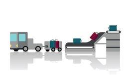 Inschrijving bij de luchthaven vector illustratie