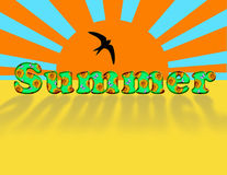 Inschrijving - de zomer. Stock Afbeelding