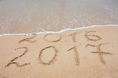 Inschrijving 2017 en 2016 Royalty-vrije Stock Foto's