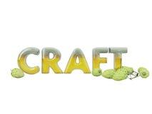 Inschrijving in gestileerd bier Stock Afbeelding
