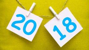 Inschrijving 2018 op de achtergrond Stock Fotografie