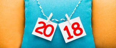 Inschrijving 2018 op de achtergrond Stock Afbeeldingen