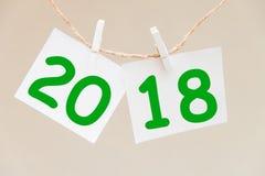 Inschrijving 2018 op de achtergrond Stock Foto
