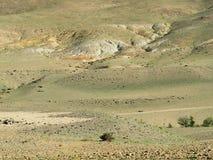 Inschrijving in Rus op de spoeling van heuvel Stock Afbeeldingen