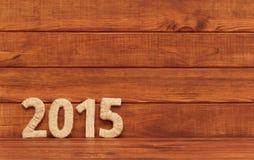Inschrijving 2015 van textiel. Nieuwjaar. Stock Foto's