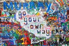 Inschrijvingen op muur I. Stock Foto's