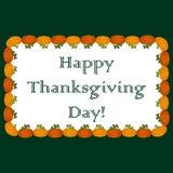 Inschrijvings Gelukkig Thanksgiving day op een witte achtergrond Royalty-vrije Stock Foto's