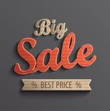 Inschrijvings grote verkoop voor banner Royalty-vrije Stock Foto