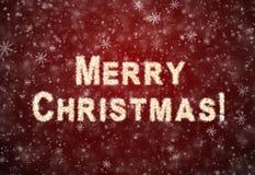 Inschrijvings Vrolijke Kerstmis Royalty-vrije Stock Fotografie