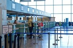 Inschrijvingsgebied in de luchthaven royalty-vrije stock afbeelding