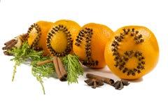 Inscrição 2016 às laranjas Imagens de Stock