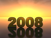 Inscrição 2008 ilustração stock