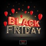 Inscrição 2016 abstrata de Black Friday do vetor Para o projeto criativo da arte, lista, página, estilo do tema do modelo, bandei Fotos de Stock Royalty Free