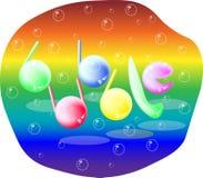 Inscrição abstrata do logotipo da bolha das bolhas Fotografia de Stock