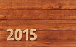 Inscrição 2015 da matéria têxtil. Ano novo. Fotos de Stock