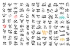 inscrição da rotulação de 100 mãos sobre a venda e o Dia das Bruxas do outono Fotografia de Stock Royalty Free