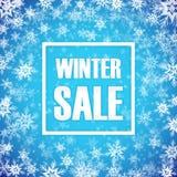 Inscrição da venda do inverno no fundo Imagem de Stock Royalty Free