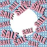 Inscrição da venda no fundo com presentes envolvidos Teste padrão collage Cartaz, convite, etiqueta, inseto com cores pastel Imagens de Stock
