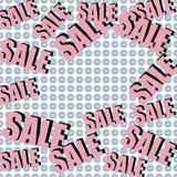 Inscrição da venda no fundo com presentes envolvidos Teste padrão collage Cartaz, convite, etiqueta, inseto com cores pastel Foto de Stock Royalty Free