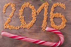 inscrição 2016 das lentilhas Fotografia de Stock