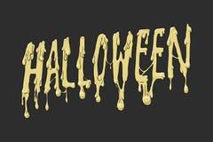 Inscrição de Dia das Bruxas no fundo escuro Conceito de Halloween Conceito do feriado Imagem de Stock Royalty Free