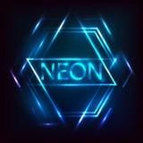 Inscrição de néon Imagem de Stock