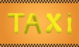 Inscrição de um táxi Fotografia de Stock Royalty Free
