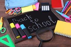 Inscrição de volta à escola fotografia de stock royalty free