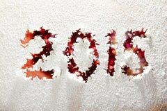 inscrição do ano 2015 novo escrita na janela Imagens de Stock Royalty Free