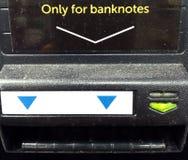 Inscrição do ATM para o depósito do dinheiro imagem de stock royalty free