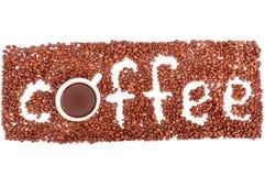 Inscrição do café Imagem de Stock