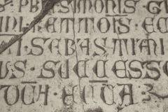Inscrição do catholic do latino medieval Imagens de Stock Royalty Free